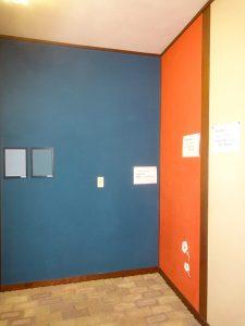 ショールームの塗り壁